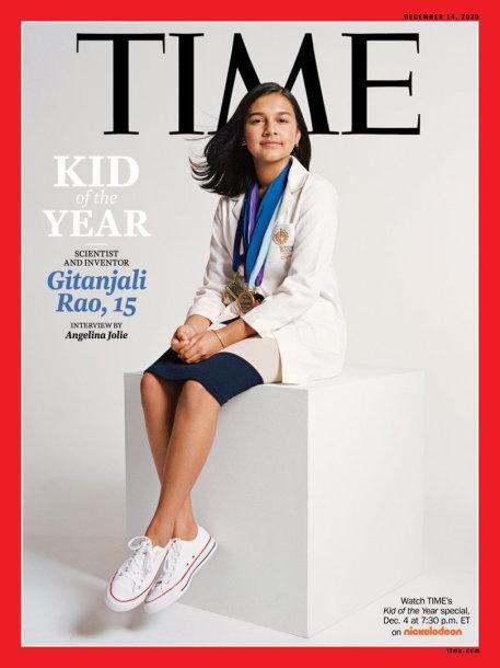"Gitanjali Rao ant žurnalo ""Time"" viršelio"