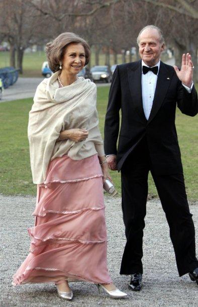 Ispanijos karalius Juanas Carlosas su žmona Sofia (2005 m.)