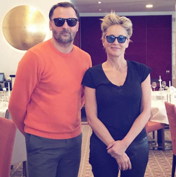 Mantas Petruškevičius ir Sharon Stone