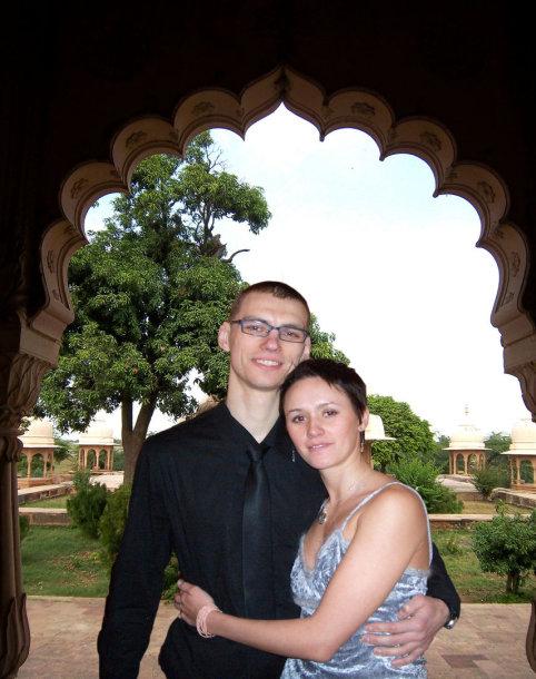 Dainius su žmona Elena
