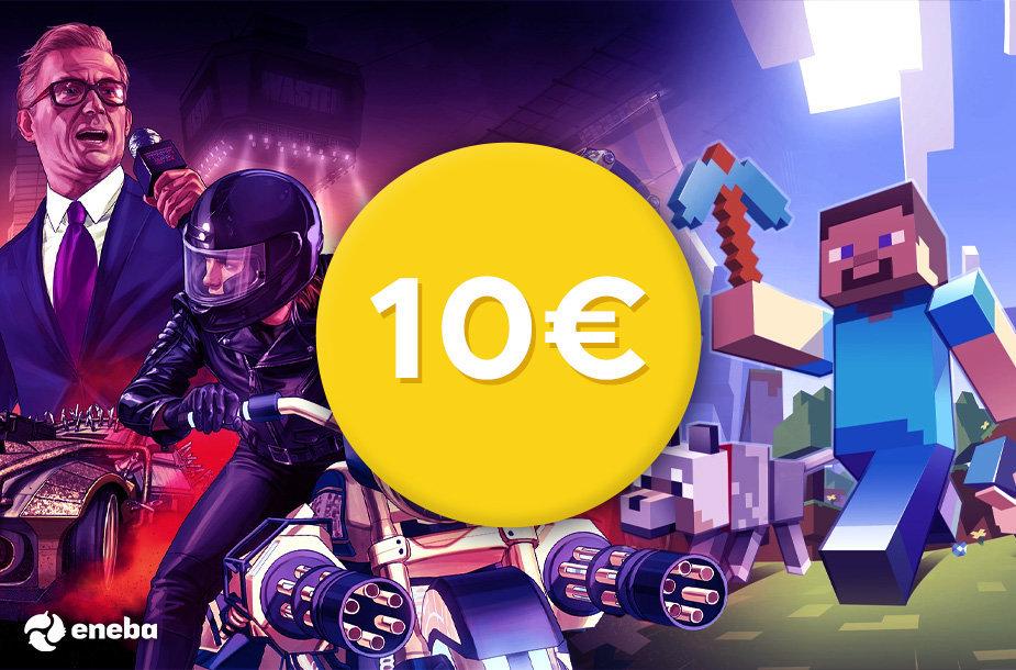 """""""Eneba"""" pristato: kompiuterinių žaidimų pasiūlymai iki 10 eurų!"""
