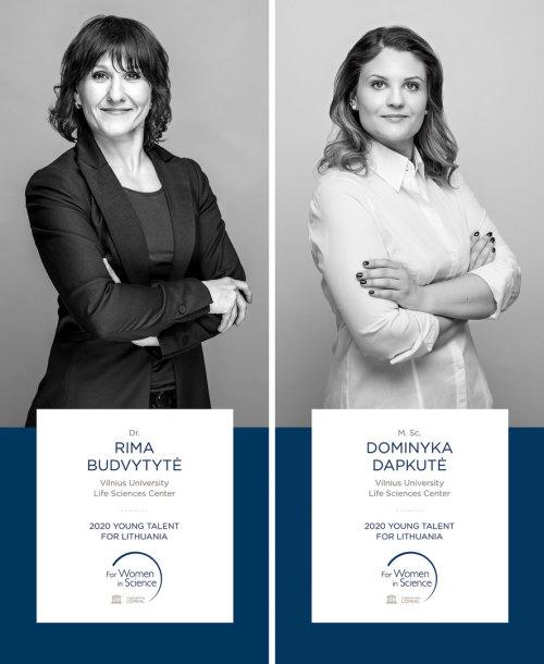 """Programos """"Moterims moksle"""" laureatės – dr. Rima Budvytytė ir Dominyka Dapkutė"""