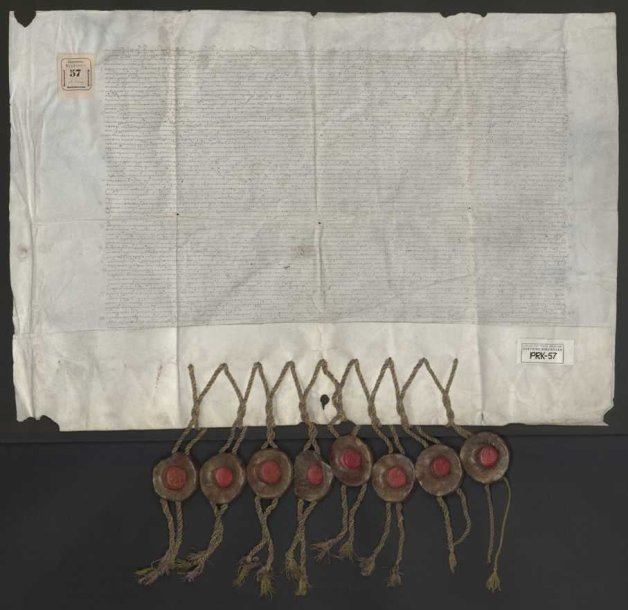 Pergamentas su trijų Radvilų parašais