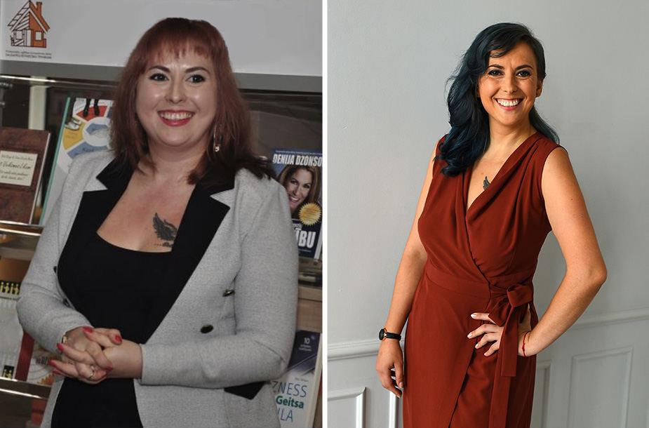 Vaida prieš ir po dietos