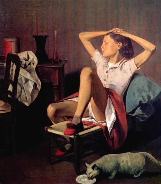 "Balthus ""Thérèse dreaming"""