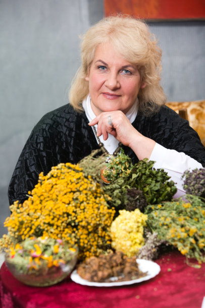 Žolininkė Dominika Balčiūnė.