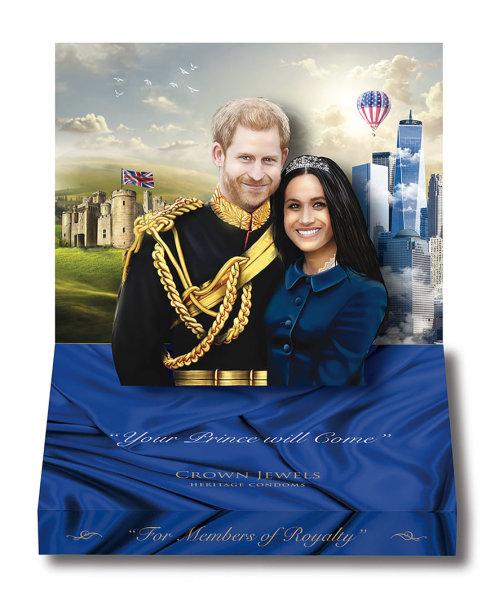 Didžiojoje Britanijoje prekyboje pasirodė karališkų vestuvių prezervatyvai