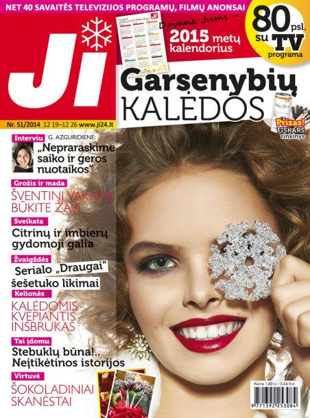 """2014 m. gruodžio mėnesio žurnalo """"Ji"""" Nr. 51"""