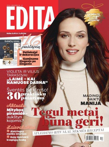 """Žurnalo """"Edita"""" gruodžio mėnesio viršelis"""