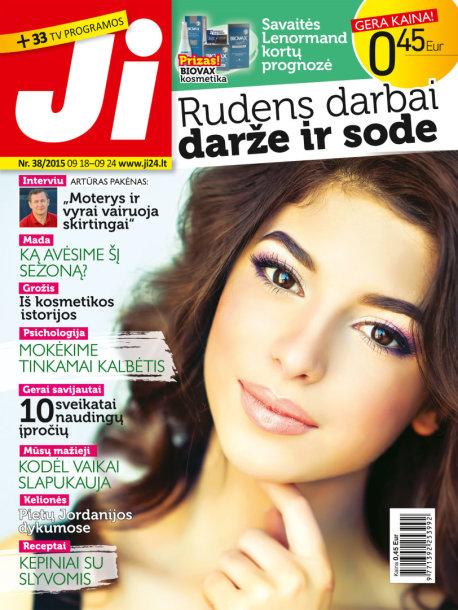 """Žurnalo """"Ji"""" viršelis (Nr. 38)"""