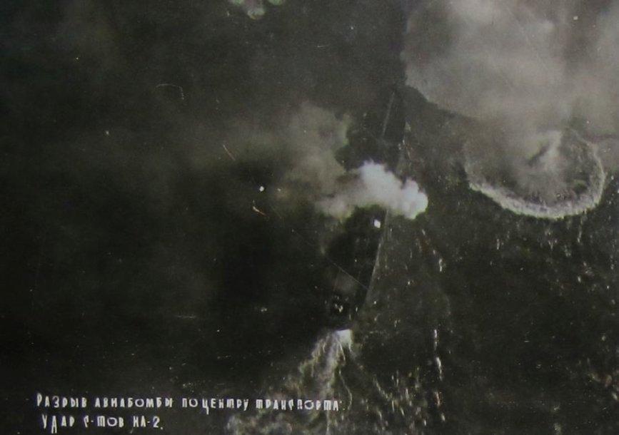 iš Uljanovsko miesto muziejaus gautos autentiškos fotografijos, kuriose patys sovietai įamžino Klaipėdos bombardavimą