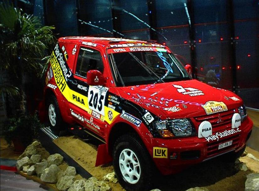 Mitsubishi Pajero Evolution, atnešęs Jutta Kleinschmidt pergalę Dakaro ralyje. (Axel Schwenke, Wikimedia(CC BY-SA 2.0)
