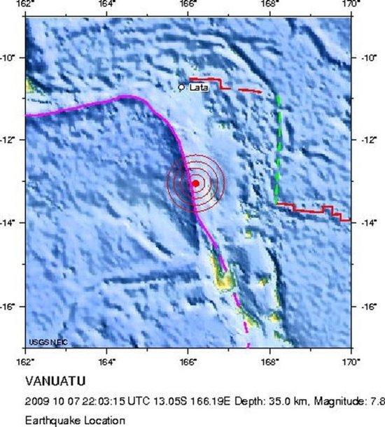 Žemės drebėjimas Vanuatu salyne