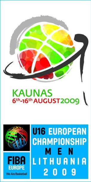 Šis Europos vaikinų jaunučių, iki 16 metų, krepšinio čempionato logotipas buvo pasirinktas dėl žaismingų spalvų.
