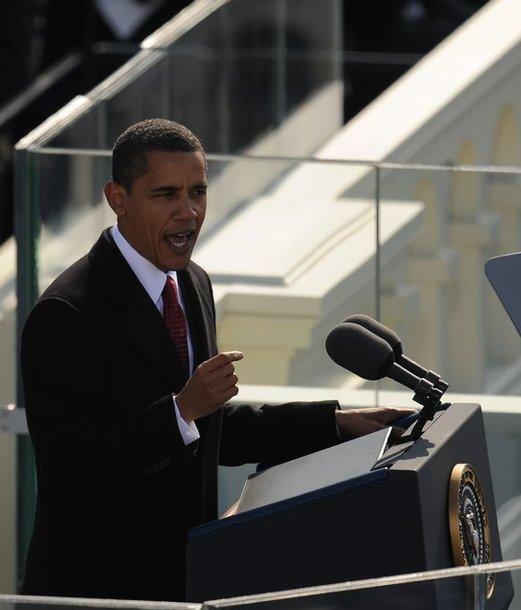 Obama sako kalbą.