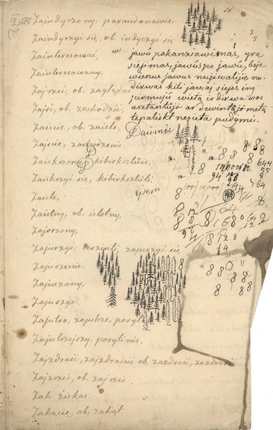 Simono Daukanto rankraščių parodos eksponatas