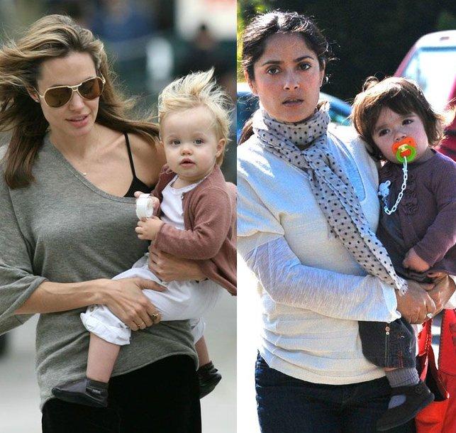 Foto naujienai: Angelina Jolie ir Salma Hayek – geriausios mamos