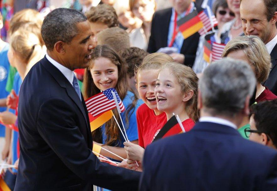 Barackas Obama Vokietijoje