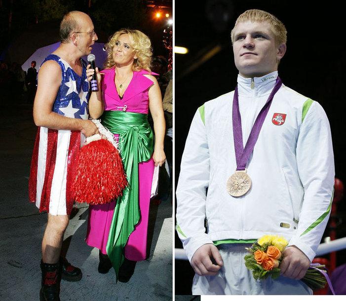 Susilažinęs su Evaldu Petrausku, Arūnas Valinskas pažadėjo pasipuošti suknele, kaip 2008-aisiais, jei boksininkas grįš su medaliu.