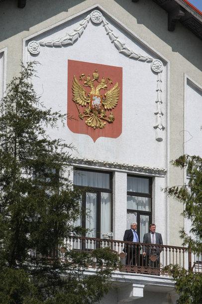 Prie Rusijos ambasados surengta protesto akcija