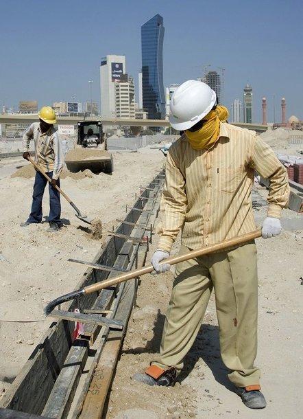 Statybų darbininkai Dubajuje