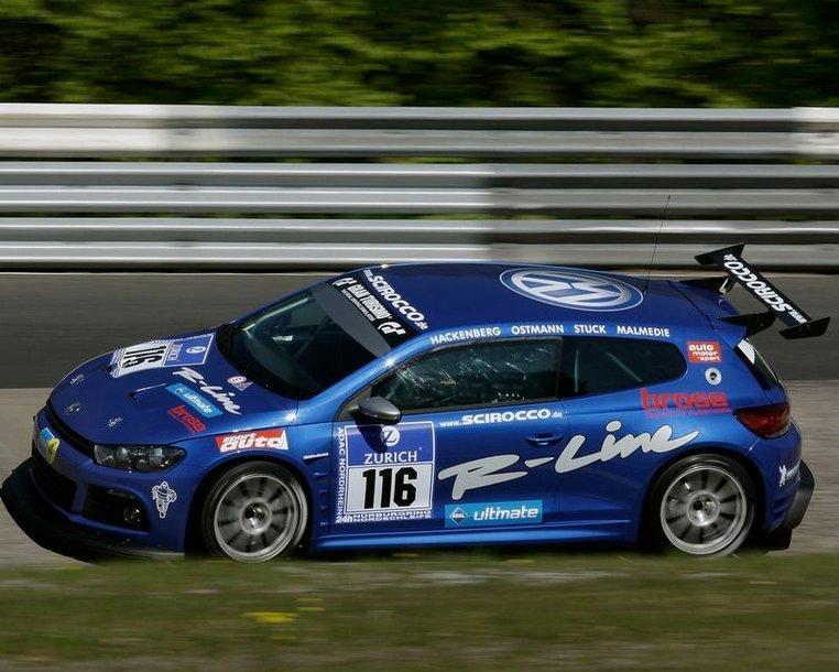 """VW Scirocco"" jau ruošiamas lenktynėms Nurburgringe"