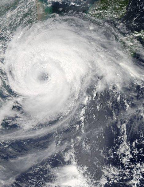 Taifūnas Haikui virš Kinijos