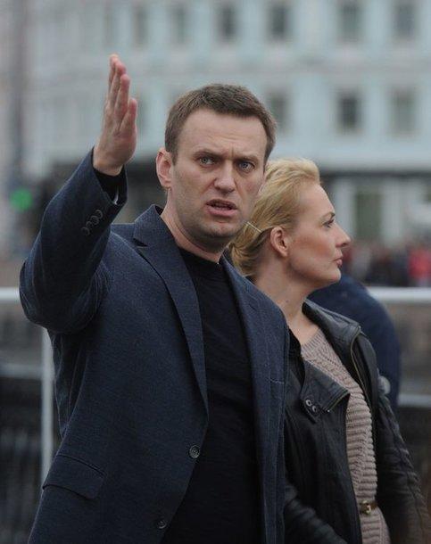 Aleksejus Navalnas su žmona Yulia