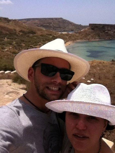 Žygimantas Stakėnas su žmona Dovile