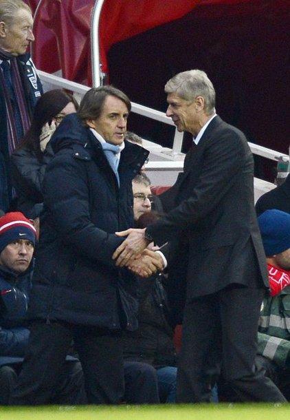 Arsene'as Wengeras ir Roberto Mancini
