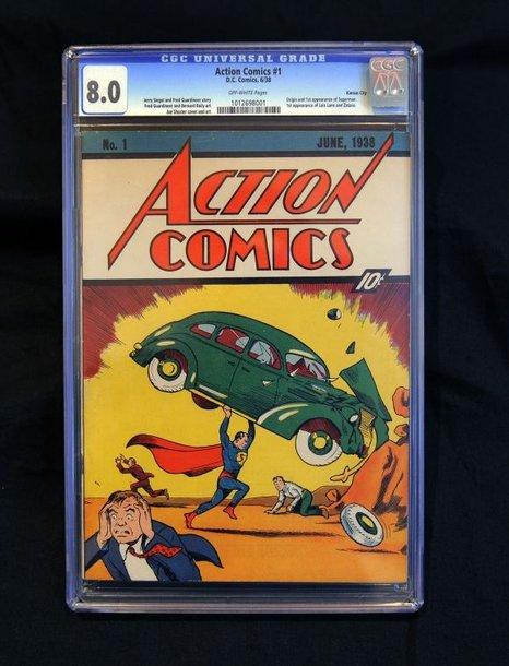 Pirmoji Supermeno komiksų knygelės kopija.