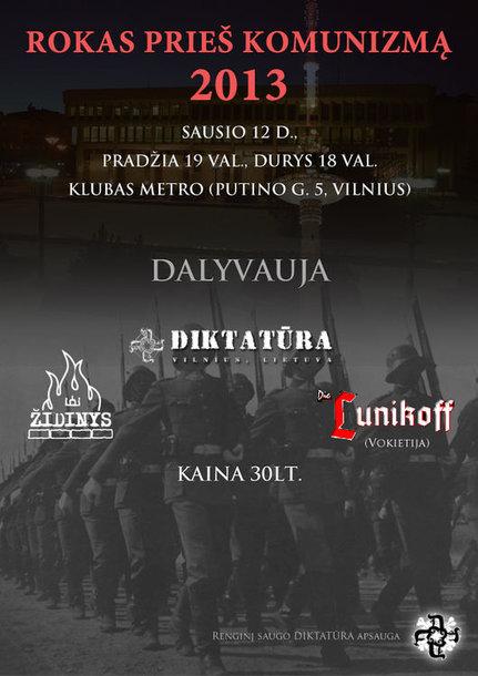 """Koncerto """"Rokas prieš komunizmą"""" reklama"""