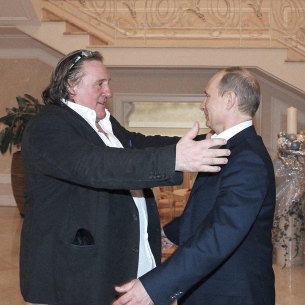 Gerard'as Depardieu susitiko su Vladimiru Putinu