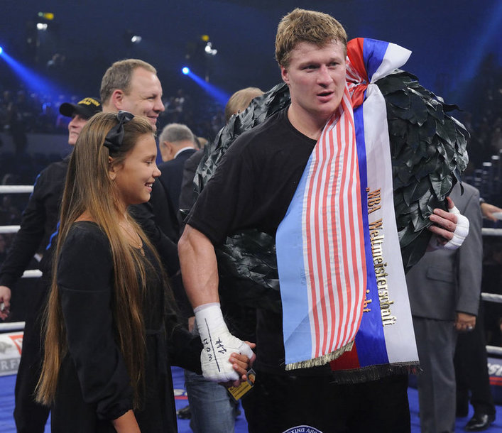 Александр Поветкин после победного боя в Гамбурге (29.09.2012).