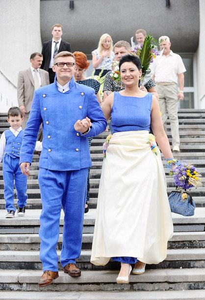Annos D. Mangirdienės ir Arnoldo Mažeikos vestuvių akimirka