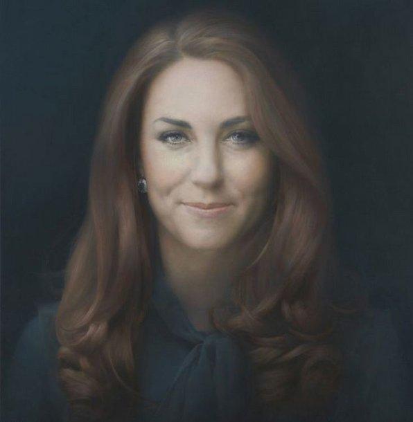 Kembridžo hercogienės Catherine oficialus portretas Nacionalinėje portretų galerijoje Londone