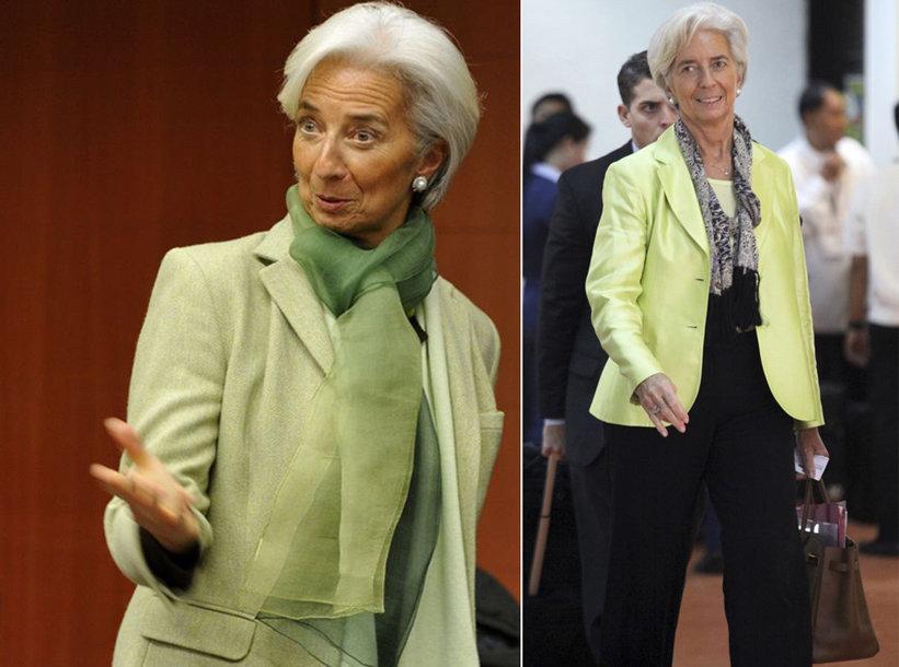Kairėje: Christine Lagarde kartu su Italijos ekonomikos ir finansų ministru Vittorio Grilli Eurozonos susirinkime Briuselyje.  Dešinėje: Christine Lagarde Manilos oro uoste nutraukia vizitą Azijoje, kad galėtų dalyvauti skubiai sušauktame susirinkime Briuselyje dėl Graikijos skolų ir krizės.