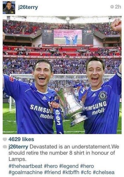 """Frankas Lampardas ir Johnas Terry """"Instagram"""""""