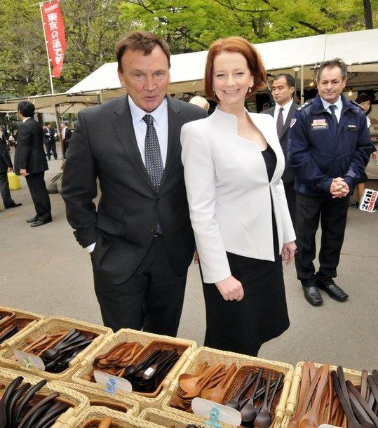 Julia Gillard ir Timas Mathiesonas