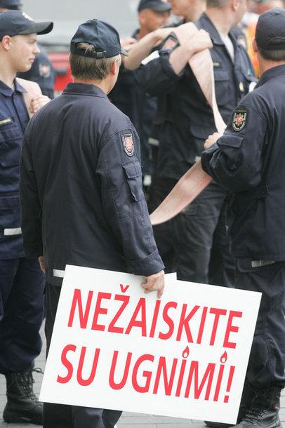Pareigūnų protesto akcija 2012 metais