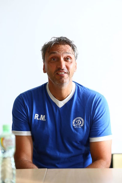 "MInsko ""Dinamo"" treneris Robertas Maaskantas."