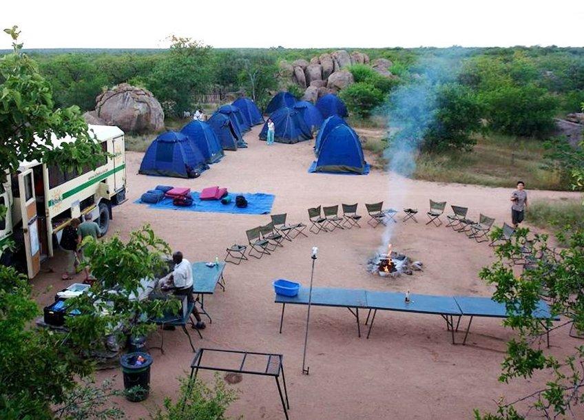 Stovyklavietė, Namibija