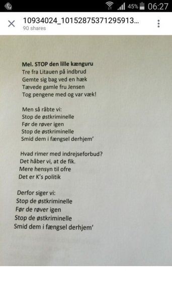 Danijos konservatorių rinkiminė daina