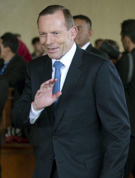 Australijos premjeras Tony Abbottas