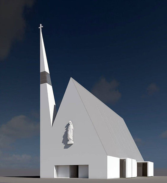 Pilaitės bažnyčios vizualizacija
