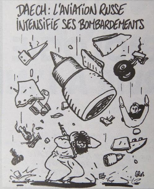 """""""Charlie Hebdo"""" Rusijos politiką pašiepiančios karikatūros"""