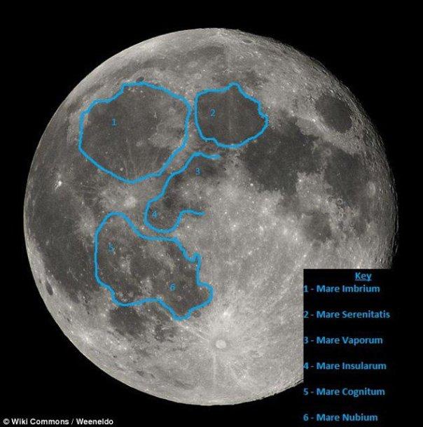 Žmogaus Mėnulyje siluetas