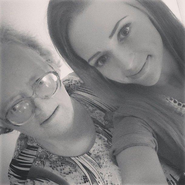 Monika Šalčiūtė su močiute