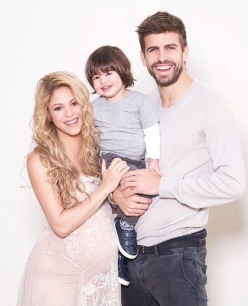 Shakira ir Gerardas Pique su sūnumi Milanu