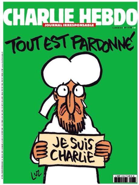 """Charlie Hebdo"" trečiadienio viršelis"